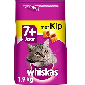 Whiskas Senior Droge Brokjes met Kip