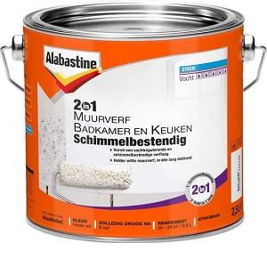 Alabastine 2-in-1 Muurverf Badkamer en Keuken Schimmelbestendig