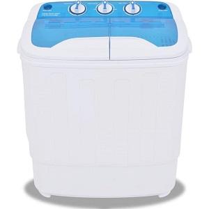 vidaXL Mini wasmachine met dubbele trommel